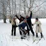 Лыжный поход начинающих бизнесменов